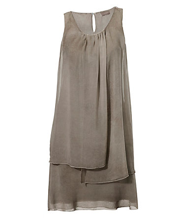 B.C. BEST CONNECTIONS by Heine Trägerkleid im Lagen-Look - taupe - 3434