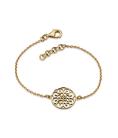 Engelsrufer Silberarmband »Indian summer, ARMBAND ORNAMENT GOLD PLATED, ERB-ORNA-G« - Silber925-goldfarben