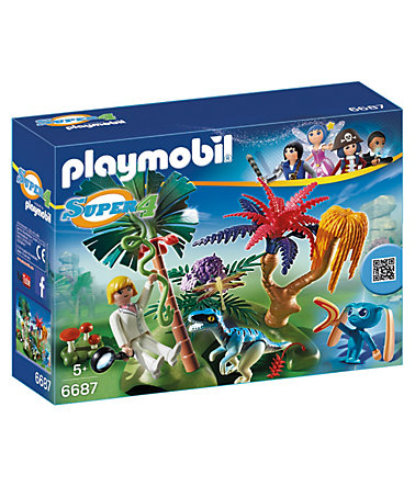 Playmobil® Lost Island mit Alien und Raptor (6687), Super 4® -