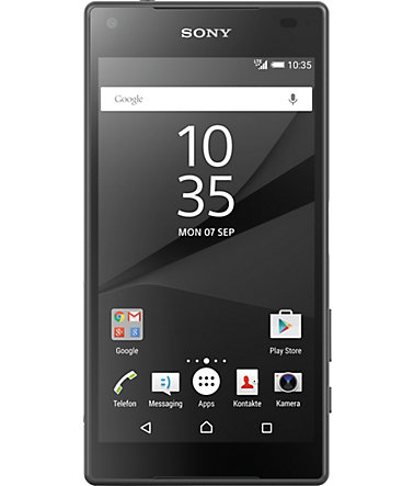Sony Xperia Z5 Compact Smartphone, 11,7 cm (4,6 Zoll) Display, LTE (4G), Android 5.1 Lollipop - schwarz