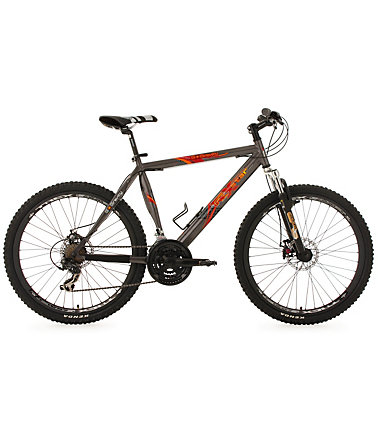 KS Cycling Hardtail Mountainbike, 26 Zoll, grau, 21 Gang-Kettenschaltung, »G-Gravity« - grau - RH51cm