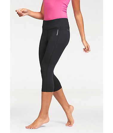 Reebok WORKOUT READY PANT PROGRAM 3/4-Tights - Schwarz - L(42/44)0 - Normalgrößen