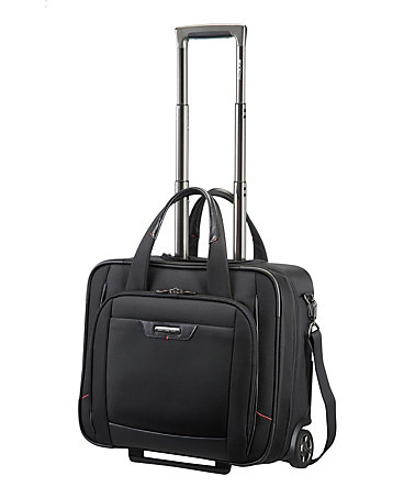 Samsonite Businesstrolley mit 2 Rollen, Schultergurt, Tablet- und Laptopfach, »Pro-DLX 4« - schwarz
