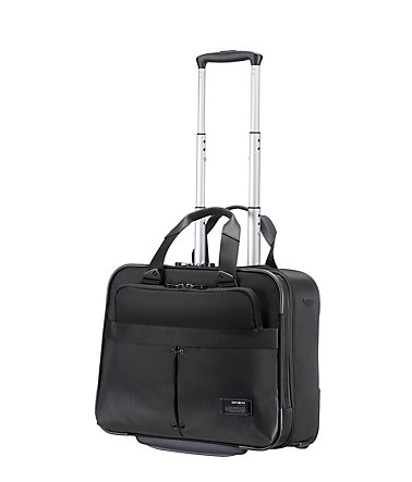 Samsonite Businesstrolley mit 2 Rollen und 16-Zoll Laptopfach, »Cityvibe« - jetblack