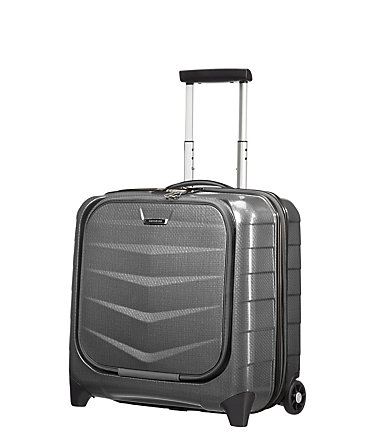 Samsonite Hartschalen Businesstrolley mit 15,6-Zoll Laptopfach und 2 Rollen, »Lite-Biz« - eclipsegrey