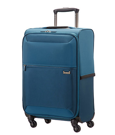 Samsonite Weichgepäck Trolley mit 4 Rollen, »Short-Lite« - petrolblue