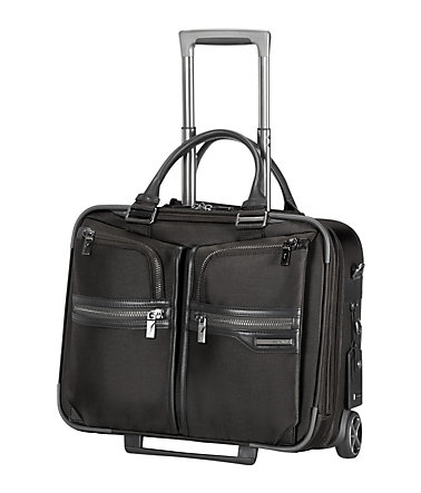 Samsonite Businesstrolley mit 2 Rollen, Tablet- und 16,4-Zoll Laptopfach, »GT Supreme« - black/black