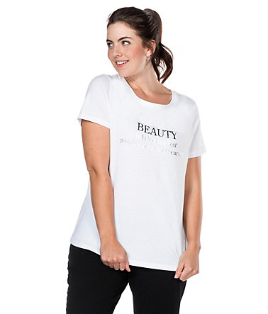 sheego Casual T-Shirt - weiß - 40/4240