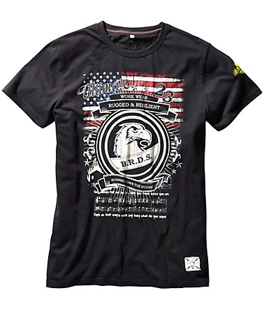 B.R.D.S. Workwear T-Shirt Workwear »USA« - grau - S0