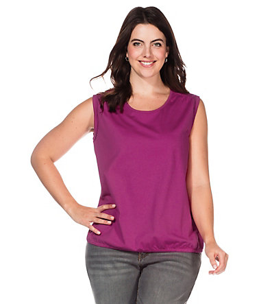 sheego Casual Top - magenta - 4040