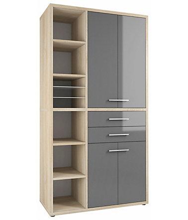 maja m bel highboard kombination set 1687 mit ged mpfter schlie ung aktenschr nke. Black Bedroom Furniture Sets. Home Design Ideas