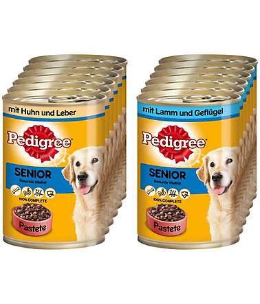 Pedigree Set: Hundenassfutter »Senior«, 12 Dosen á 400 g - 12Stk. - 400g