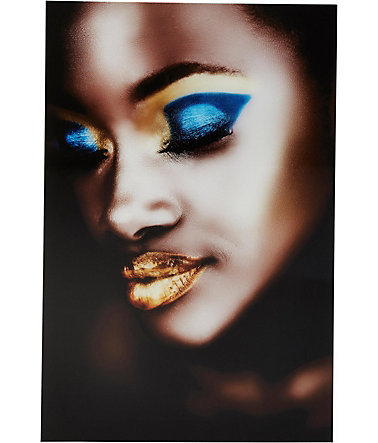 Premium Collection by Home affaire Acrylglasbild »Fashion-Face«, 60/90 cm - gold/blau/bronze