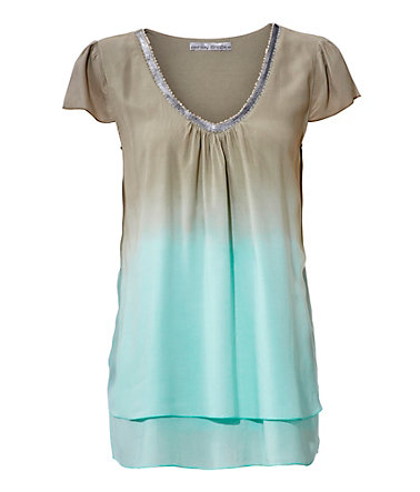 ASHLEY BROOKE by Heine Blusenshirt aus Viskose - taupe/mint - 3636