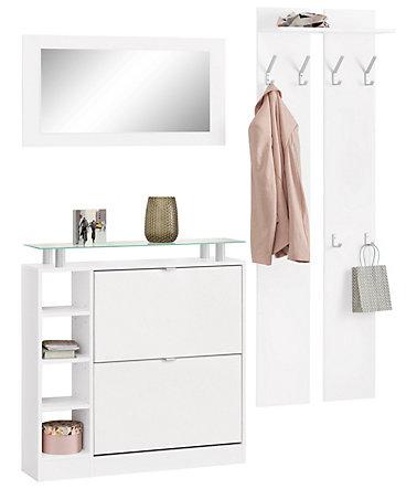 borchardt m bel garderoben set dolly 3 tlg mit glasablage wohnideen. Black Bedroom Furniture Sets. Home Design Ideas