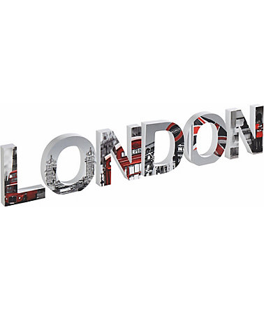 Kunststoffbuchstaben, Home affaire, »3D London«, (6-tlg.) - grau/rot