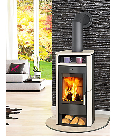 FIREPLACE Kaminofen »Paris«, Stahl, 6 kW, Panorama Sichtscheibe, Fireplace -