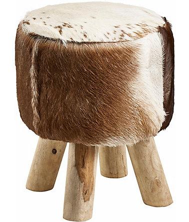 home affaire hocker kuhfell mit holzbeinen schwab. Black Bedroom Furniture Sets. Home Design Ideas