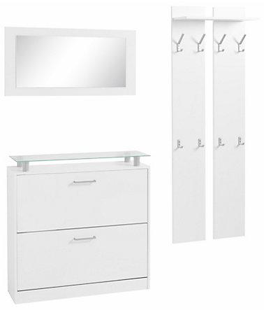 borchardt m bel garderoben set finn 3 tlg mit glasablage m bel. Black Bedroom Furniture Sets. Home Design Ideas