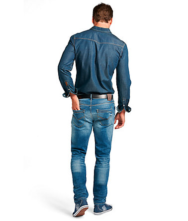 H.I.S Jeans »Cliff, used look« - eclipseblue - 3030 - Länge34