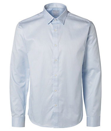 Selected Slim Fit Langarmhemd - LightBlue - L0