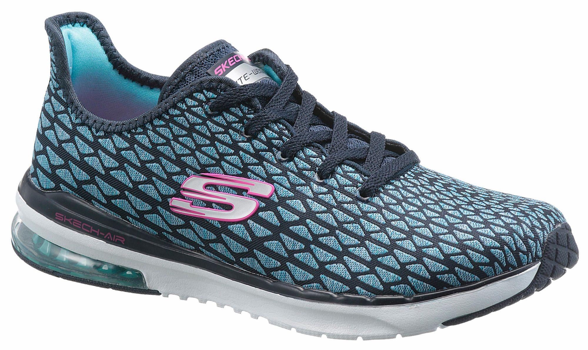 Skechers »Skech-Air Infinity Free Fallin« Sneaker, mit auffälligem Muster, schwarz, weiß-schwarz