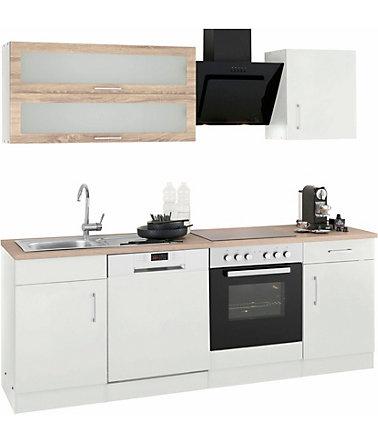 HELD MÖBEL Küchenzeile mit E-Geräten »Utah«, Breite 220 cm mit ...
