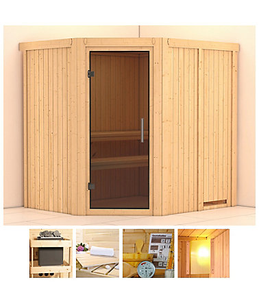 konifera sauna siirin 196 170 198 cm ohne ofen glast r grafit saunen. Black Bedroom Furniture Sets. Home Design Ideas