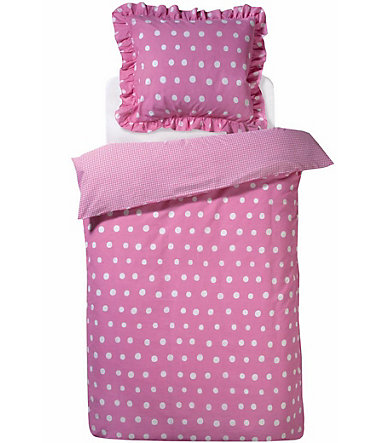 Bettwäsche »Dotty«, damai - pink - Renforcé - 1x80x80cm - 1x135x200cm