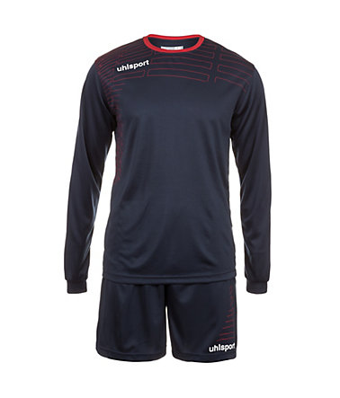 UHLSPORT Match Team Kit Longsleeve Herren - marine/rot - L-520
