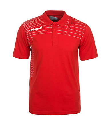 UHLSPORT Match Polo Shirt Kinder - rot/weiß - S-1640