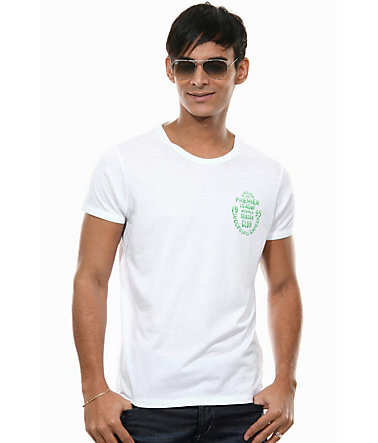 MCL T-Shirt Rundhals slim fit - weiss - L0