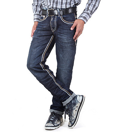 R-NEAL Jeans Regular Fit - blau/braun - 2929 - 32