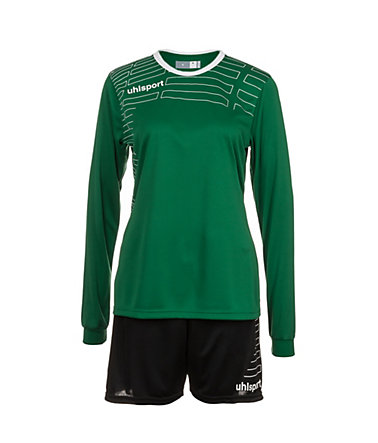 UHLSPORT Match Team Kit Longsleeve Damen - lagune/weiß - L-400