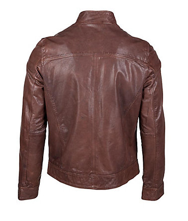 JCC Lederjacke Herren Diamand - brown - 4848