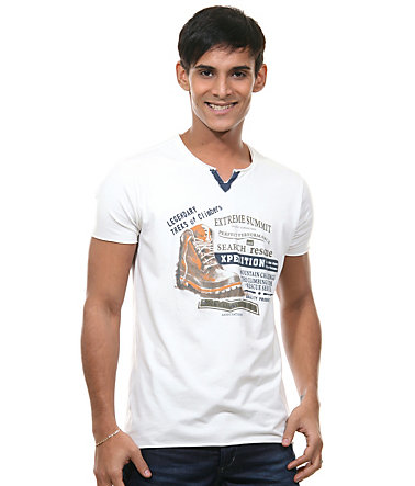 MCL Henley T-Shirt regular fit - natur - L0