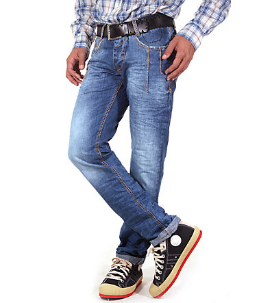 R-NEAL Jeans Regular Fit - blau/orange - 2929 - 32