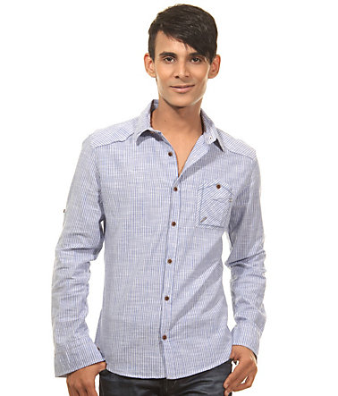 CATCH Langarmhemd slim fit - blau - L0
