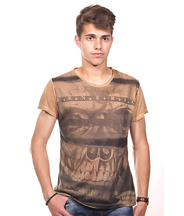 JENERIC T-Shirt Rundhals regular fit - sand - L0