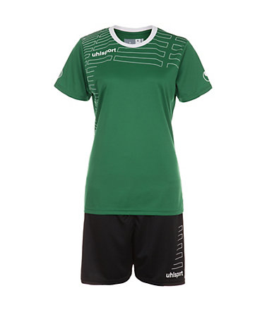 UHLSPORT Match Team Kit Shortsleeve Damen - lagune/weiß - L-400