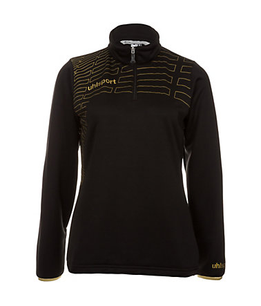 UHLSPORT Match 1/4 Zip Top Damen - schwarz/gold - L-400