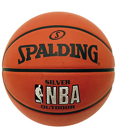 SPALDING NBA Silver Outdoor (73-285Z) Basketball - braun/orange