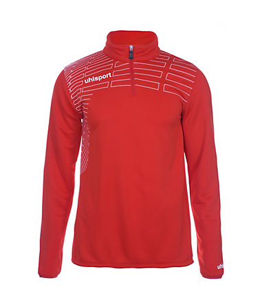 UHLSPORT Match 1/4 Zip Top Kinder - rot/weiß - S-1640