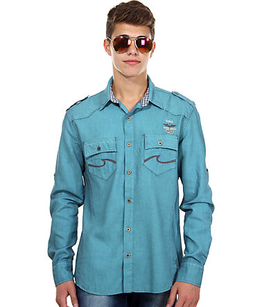CATCH Jeanshemd slim fit - ozeanblau - L0