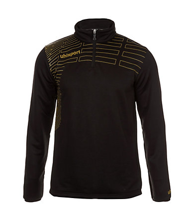 UHLSPORT Match 1/4 Zip Top Kinder - schwarz/gold - S-1640