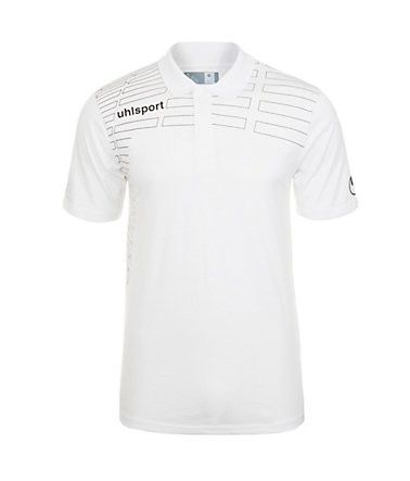 UHLSPORT Match Polo Shirt Herren - weiß/schwarz - L-520