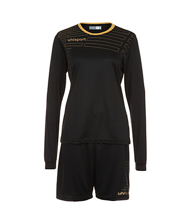 UHLSPORT Match Team Kit Longsleeve Damen - schwarz/gold - L-400