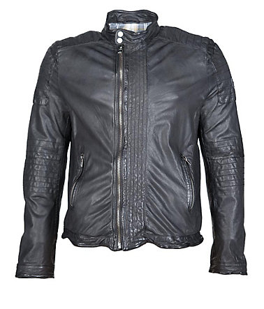 JCC Lederjacke mit dezenten Highlights »Kurt« - black - 5252
