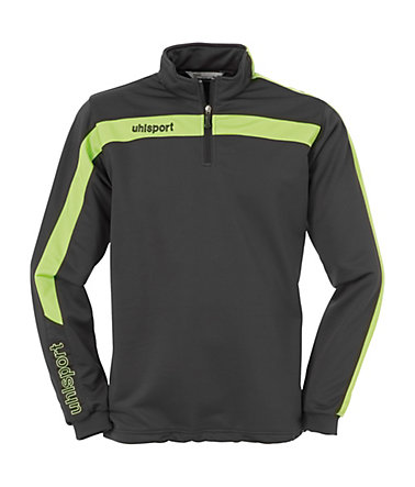 UHLSPORT Liga 1/4 Zip Top Kinder - anthrazit/grün - S-1640