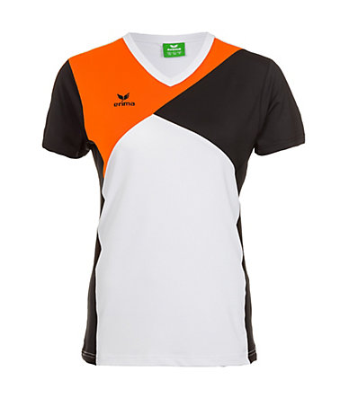 ERIMA Premium One T-Shirt Damen - weiß/schwarz/orange - 3434